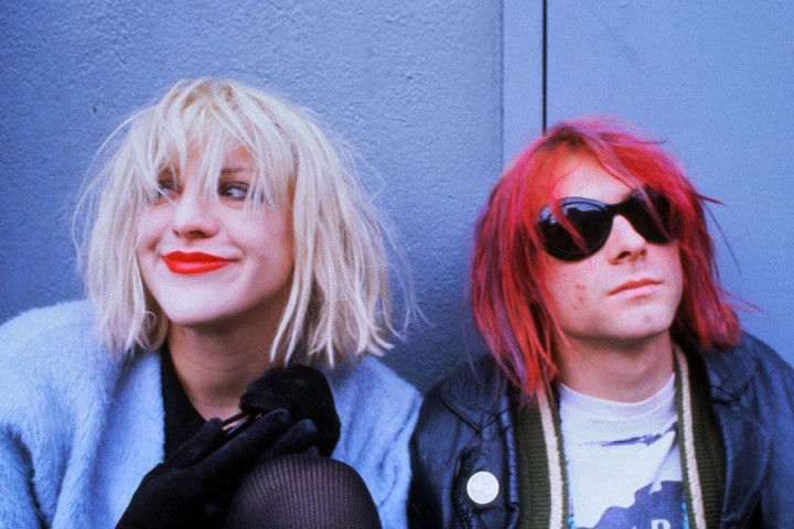 ca. 1992 --- Courtney Love and Kurt Cobain --- Image by © Dora Handel/CORBIS OUTLINE